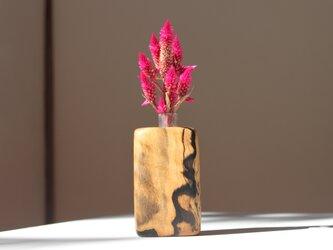 木の花瓶【ブラック&ホワイトエボニー材】の画像
