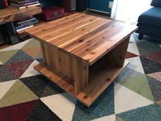 〓栄町工房〓 杉 スクエアー 正方形 ローテーブル 送料込みの画像
