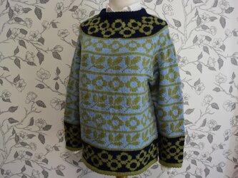 新作10葉っぱとお花のセーター(週末販売開始)の画像