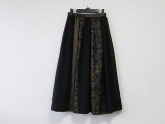 *アンティーク着物*泥大島紬紬のパッチスカート(裏地つき)の画像