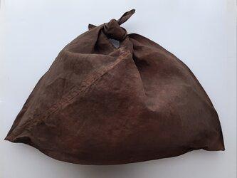あづま袋 L #柿渋染め 濃の画像