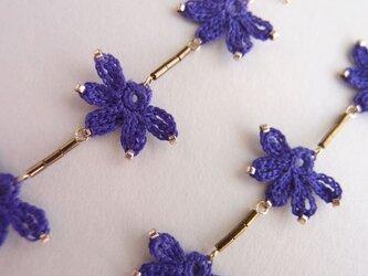 「ŞAKA ŞAKA」 -FLAT FLOWER PIERCE-  exotic bluevioletの画像