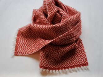 cashmere compact muffler red_aの画像