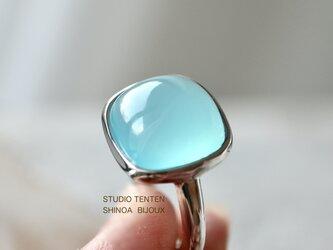 [四角い水のカルセドニー]ringの画像