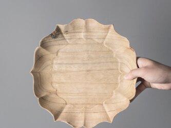 受注生産 職人手作り 木製皿 お皿 プレート 無垢材 キッチン小物 木目 木製雑貨 シンプル 木工 エコ LR2018の画像