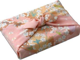 風呂敷 ちりめん 道長小花 レーヨン100% ピンク 68cmx68cmの画像