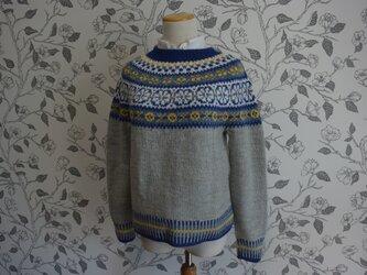 カラフルな袖口セーターの画像