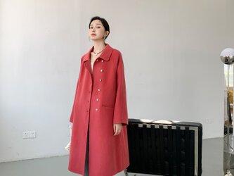 【全14色】 【ウール100%】 リバーシブル生地 手縫い コート☆オーダーメイド可の画像