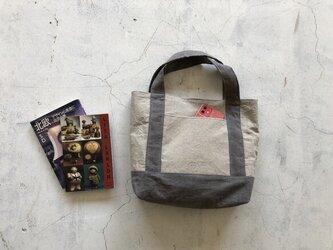 """リネンのトートバッグ Belgiun linen25 """"マチたっぷりのお散歩BAG""""の画像"""