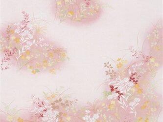 風呂敷 ちりめん 花背 レーヨン100% ピンク 68cmx68cmの画像