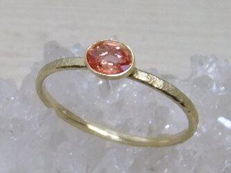 pink sapphire*K10 ringの画像