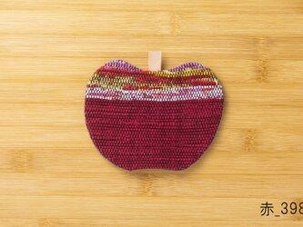 裂織りんごコースター 赤の画像