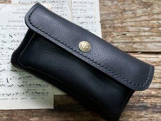 mare-wallet ブラック(イタリアンレザー財布)の画像