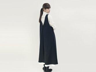 ★新発売特別価格★ 4通りで着られる 発熱 ジレ ジャンパースカート ワンピース 黒 ●MILLET-BLACK●の画像