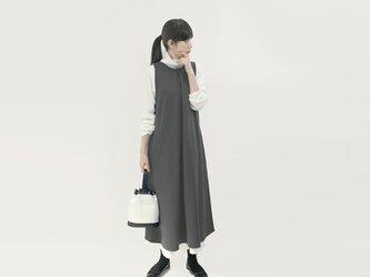 ★新発売特別価格★ 4通りで着られる 発熱 ジレ ジャンパースカート ワンピース グレー ●MILLET-GRAY●の画像