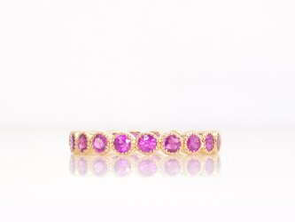 Ruby full eternity ring / milgrainの画像