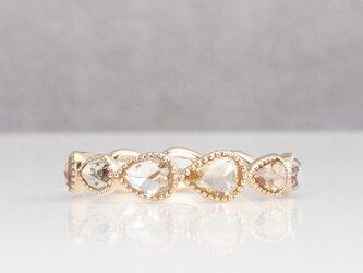 Rosecut diamond full eternity ring / Pair shapeの画像