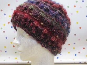 カラフルニット帽(レディース)の画像