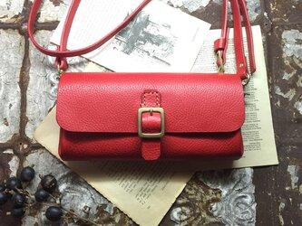 *受注製作*wallet bag(RED)の画像
