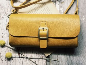 *受注製作*wallet bag(yellow)の画像