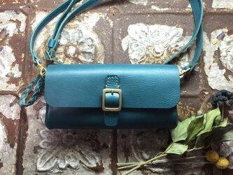 *受注製作*wallet bag(turquoise BLUE)の画像