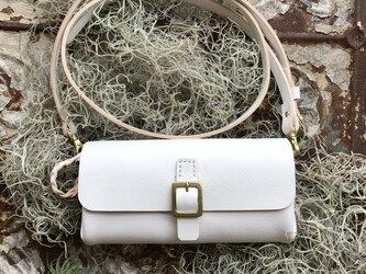 *受注製作*wallet bag(White)の画像
