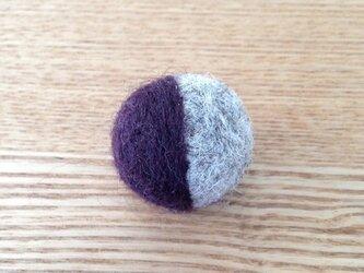 和カロン 小 深紫×灰の画像