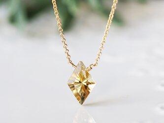 ダイヤコンケーブカットシトリンのネックレス ~Eleonorの画像