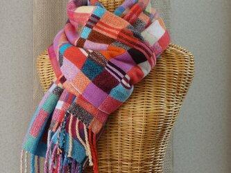 手織りカシミアストール・・ジェリービーンズの画像
