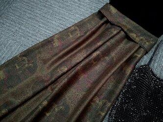★着丈85㎝まで★イタリア製の貴族的なウール★濃緑系★ギャザースカート★裏地付★受注製作★の画像
