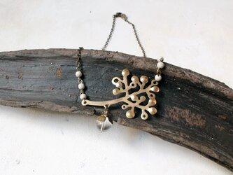 木の実の真鍮ネックレスの画像