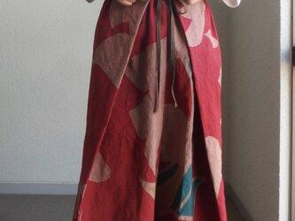 巻き巻き!赤のキュロットパンツ ●85センチ丈●の画像