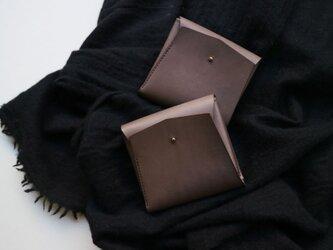 スクエア財布 DARK BROWN (牛革)の画像