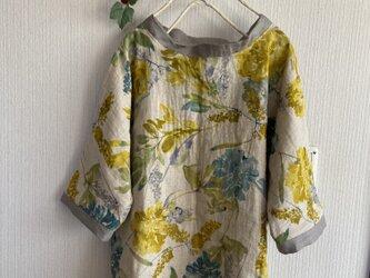 綿麻ダブルガーゼのドルマンスリーブプルオーバーの画像