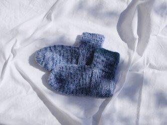 手編みくつした / ウールの画像