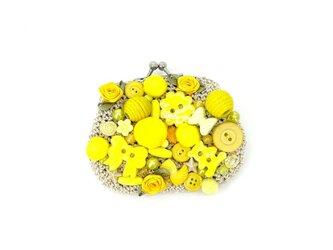 黄色のがま口の画像