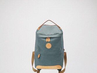 新商品キャンペーン中!Box 帆布+本革手作りのクラシックリュックサック【緑】の画像