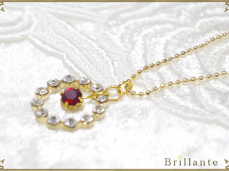 Julietta necklace(garnet)の画像