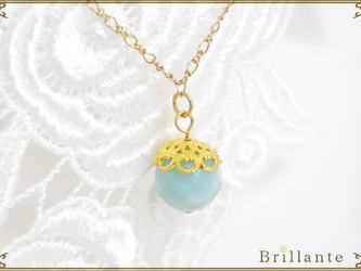 natural necklace (amazonite)の画像