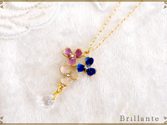 thaleia necklace(blue)の画像