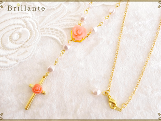 harmonia necklace(coral)の画像