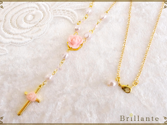 harmonia necklace(peach)の画像