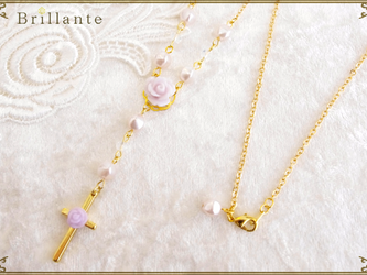 harmonia necklace(lavender)の画像