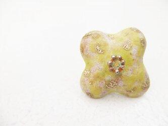 七宝ブローチ Powder of Flower 金箔の画像