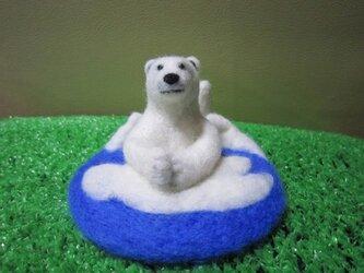 カップラーメンの押さえふた(白熊)の画像