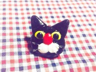 黒猫のプチピアスの画像