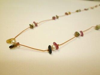 #1 天然石と淡水パールのネックレスの画像