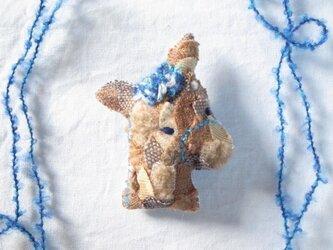もこもこ馬のブローチ 茶の画像