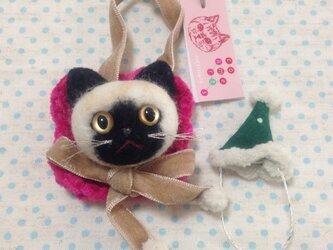 猫顔フェルトブローチ262の画像