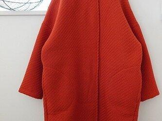 [佐座美砂様オーダー品]オレンジのコクーンコートの画像
